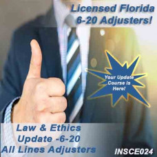 Florida: 5hr Law & Ethics Update - 6-20 Adjusters (5-620)  CE Course