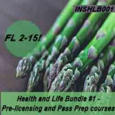 Florida: 60 hr Prelicensing Bundle - Health and Life Prelicensing and Pass Prep Cram Courses Bundle #1